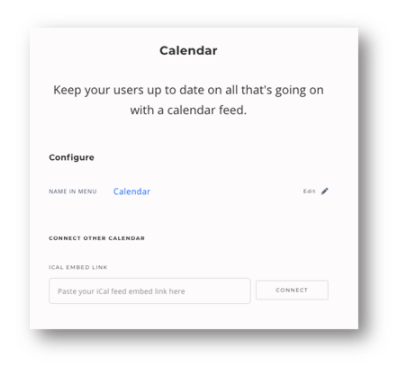 MinistryOne Calendar Integration