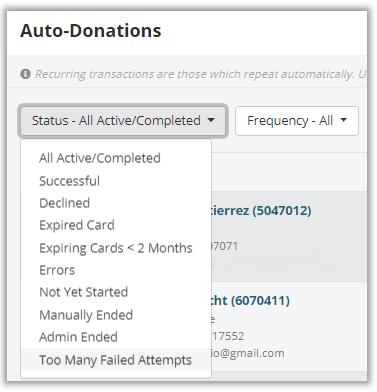 RG auto donations