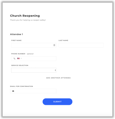 Sign up service